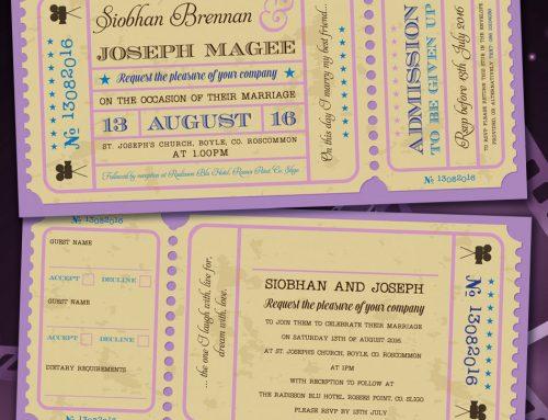 Cinema and Movie themed Wedding Stationery