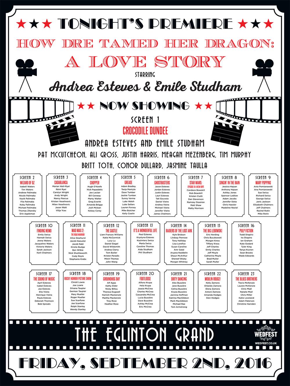 Cinema and Movie themed Wedding Stationery | WEDFEST