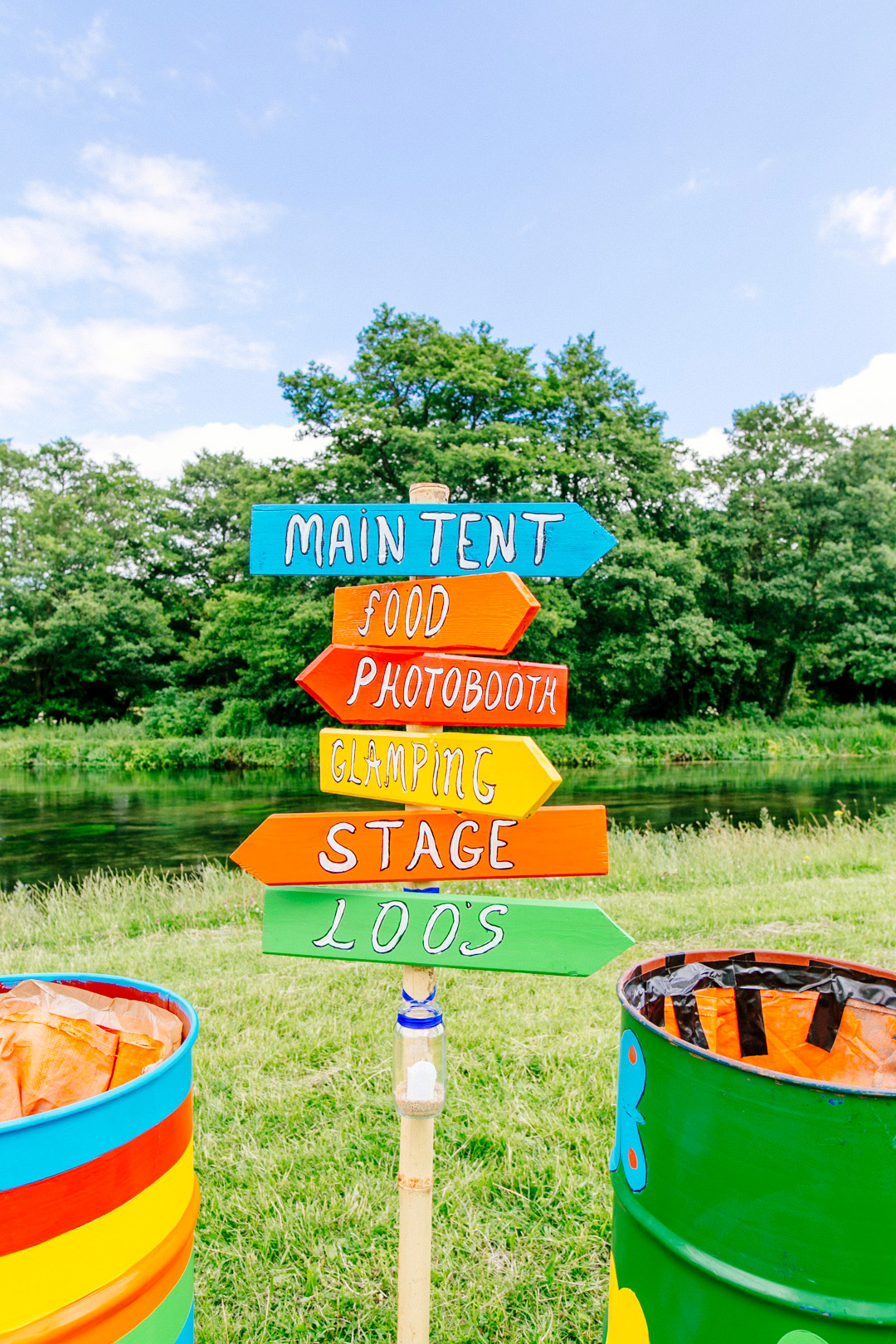 glastonbury festival wedding sign