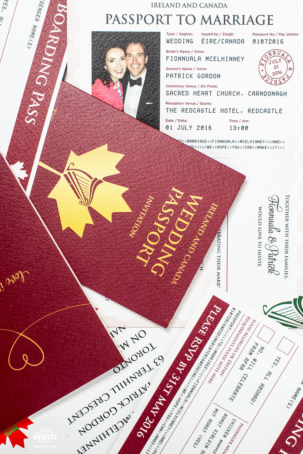 wedding passport invitation boarding pass