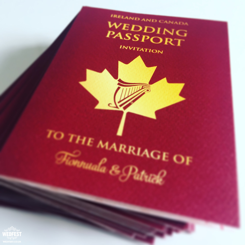 wedding passport to love invitation