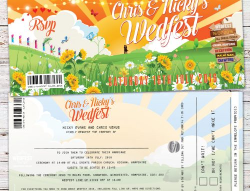 Chris & Nicky's Glastonbury Inspired Wedfest