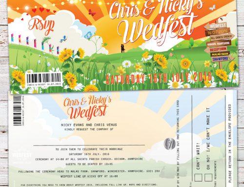 Chris & Nicky's Glastonbury Inspired Wedfest