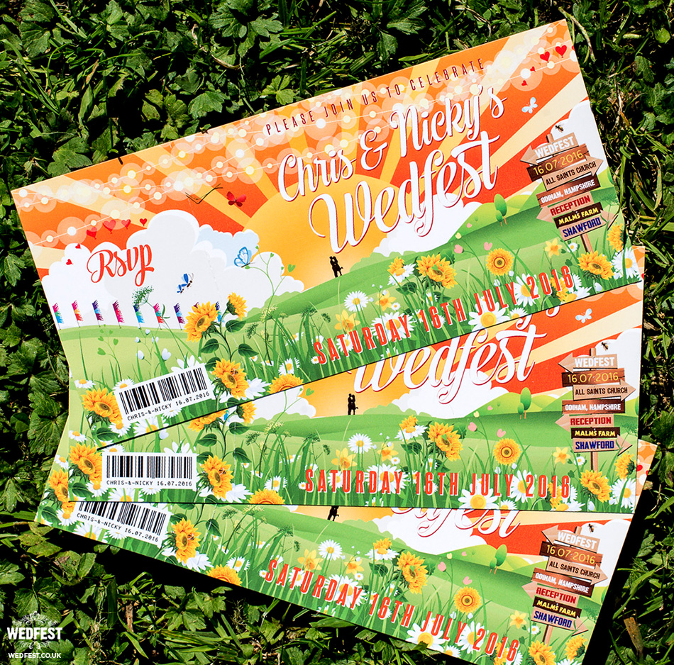 wedfest ticket wedding invites