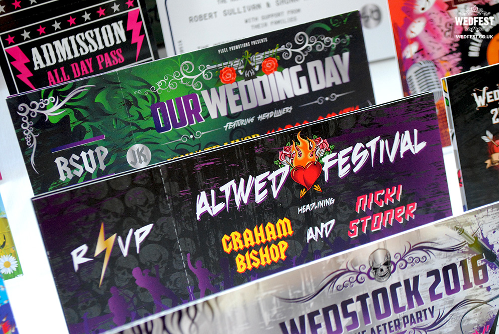 alternative festival wedding invite