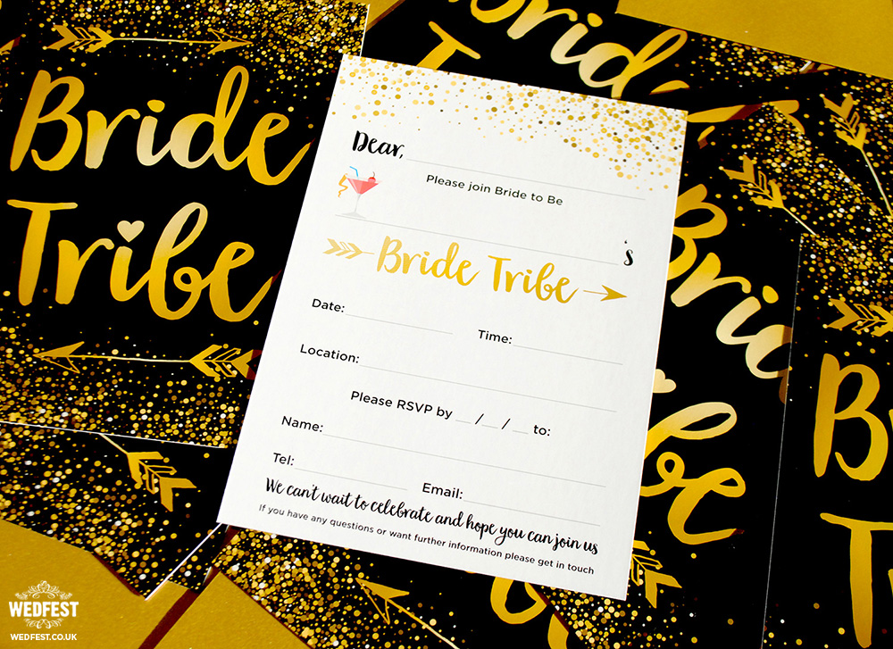 bride tribe hen do invitation