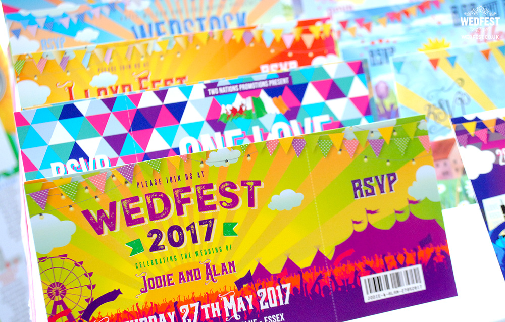 wedfest alternative festival wedding invitations