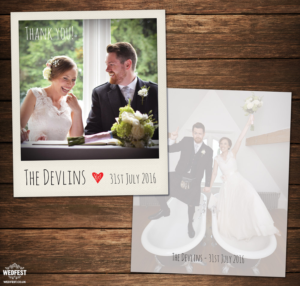 alternative wedding thank you cards