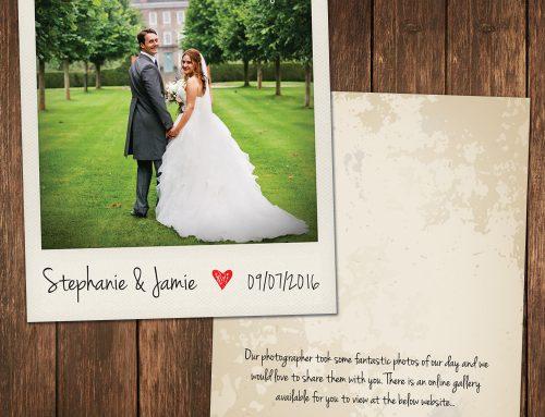 Wedding Polaroid Photo Thank You Cards