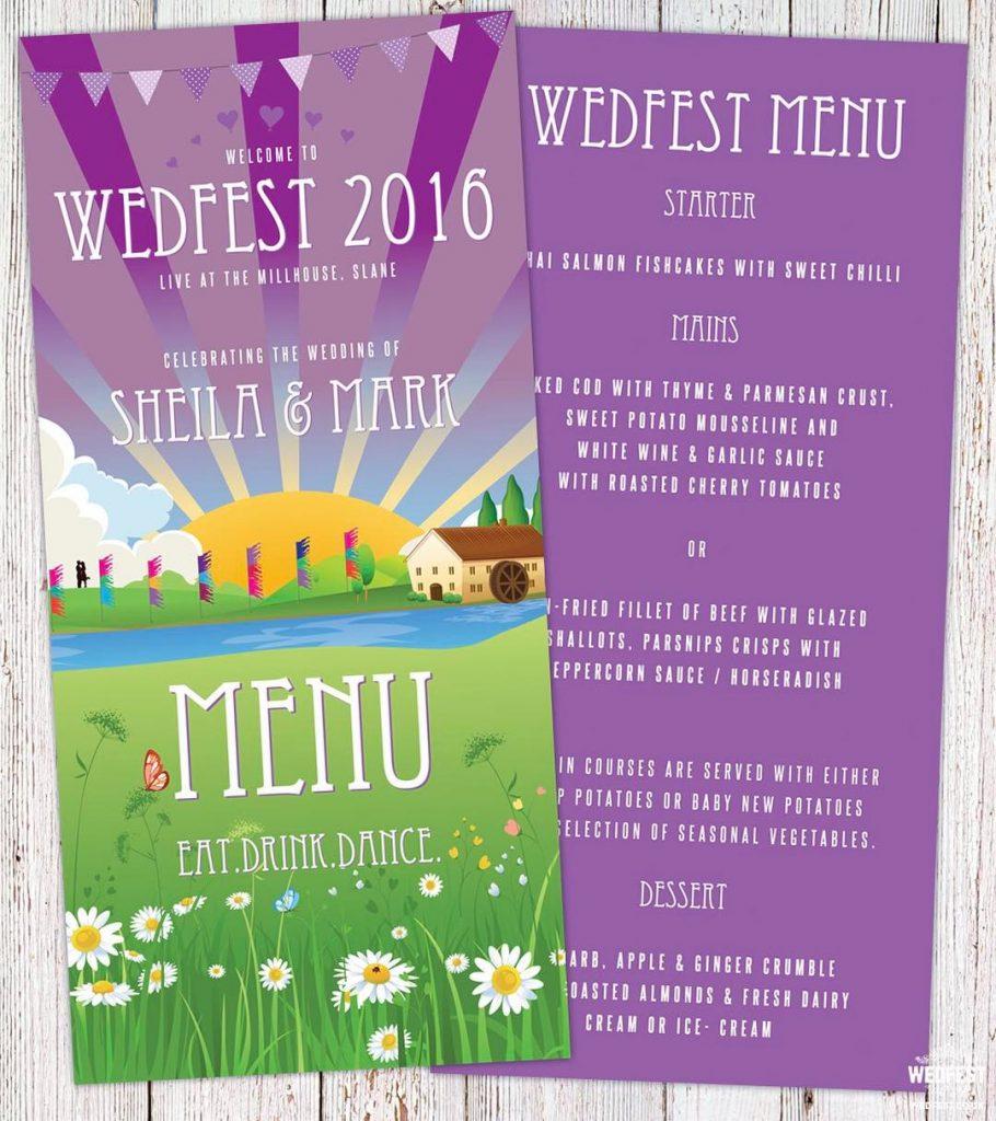 Irish festivalwedding weddingmenu from wedfest rockmywedding instawedding weddingblog irishwedding irishbridehellip