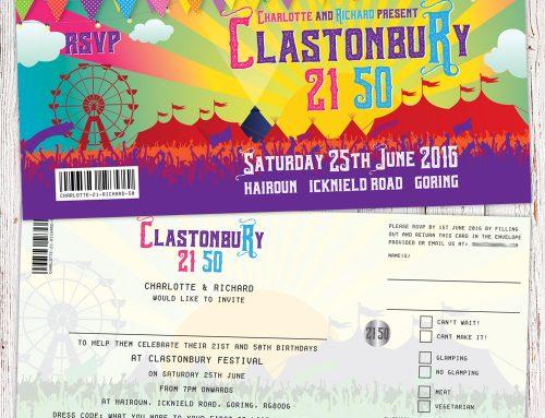 Festival Birthday Party Invitations