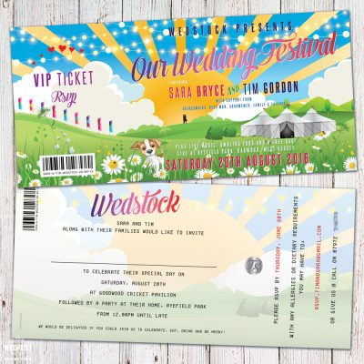 wedfest wedstock festival wedding invitations