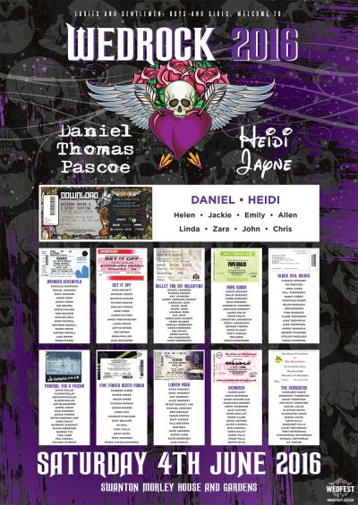 wedrock heavy metal wedding table plan