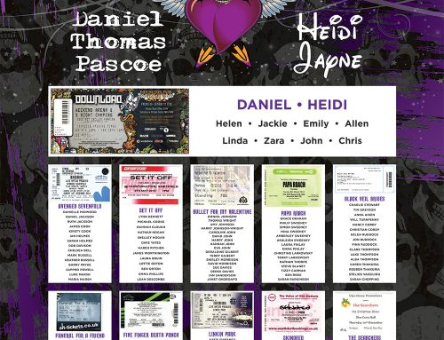 Rock and Heavy Metal Influenced Wedding Table Plans