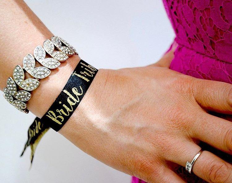 bridetribe blackandgold henparty wristbands teambride bridetobe wristband wedfest henpartywristband hendohellip