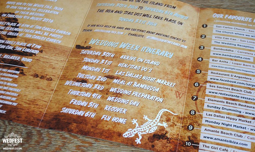 Balearic wedding invitations stationery