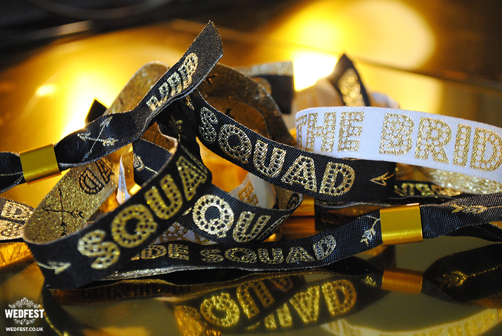 bachelorette hen party bride-squad wristband accessories