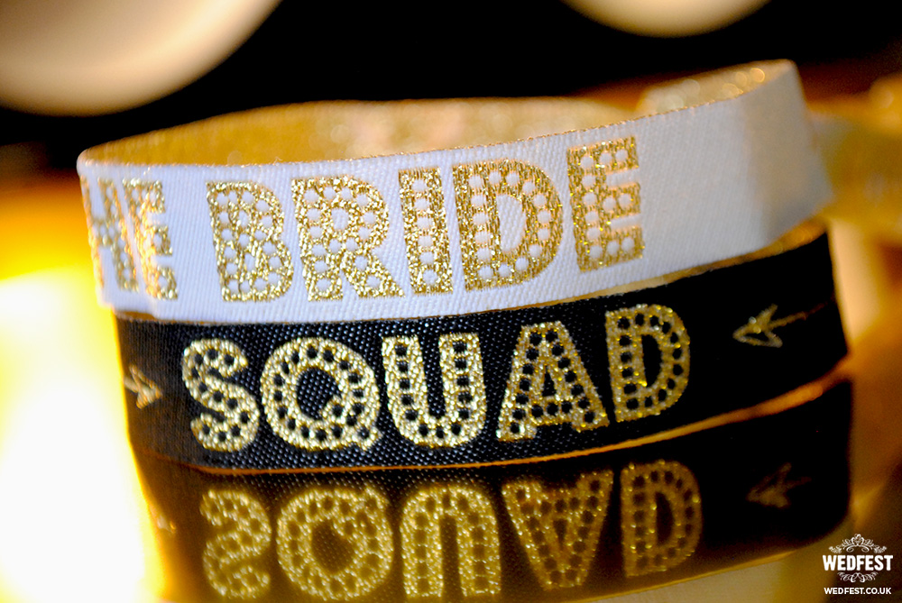 bride squad bachelorette party wristband favours