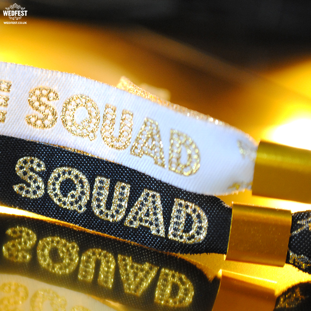 bride squad hen bachelorette party wristbands