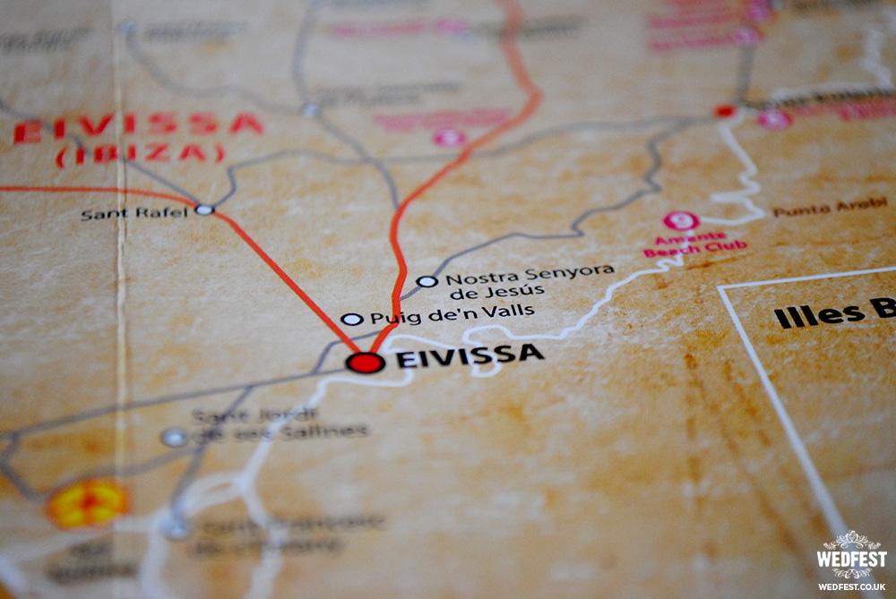 ibiza map wedding stationery