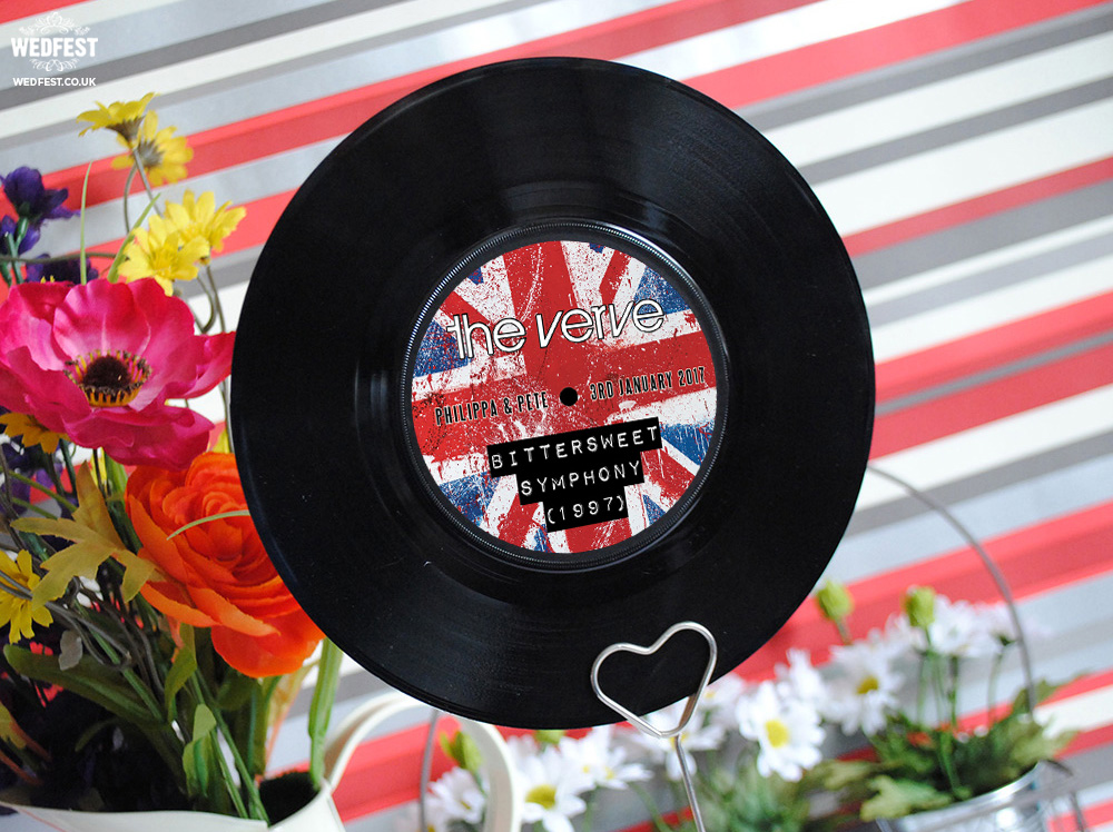 britpop wedding stationery