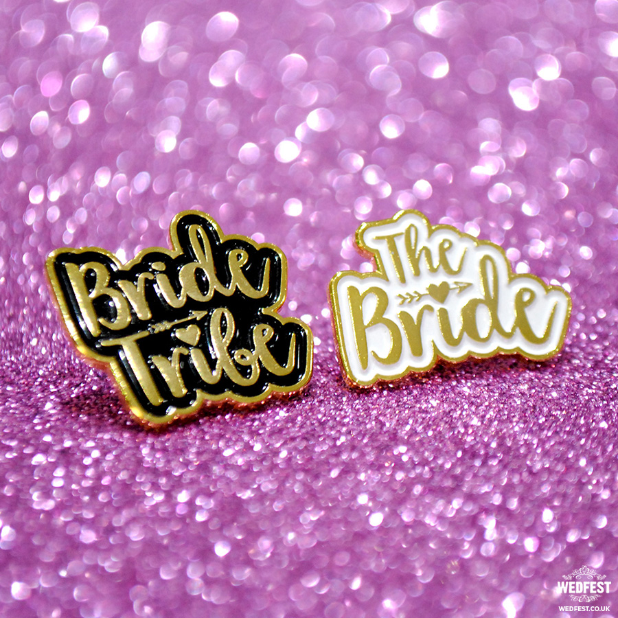 bride tribe hen party enamel pin badges