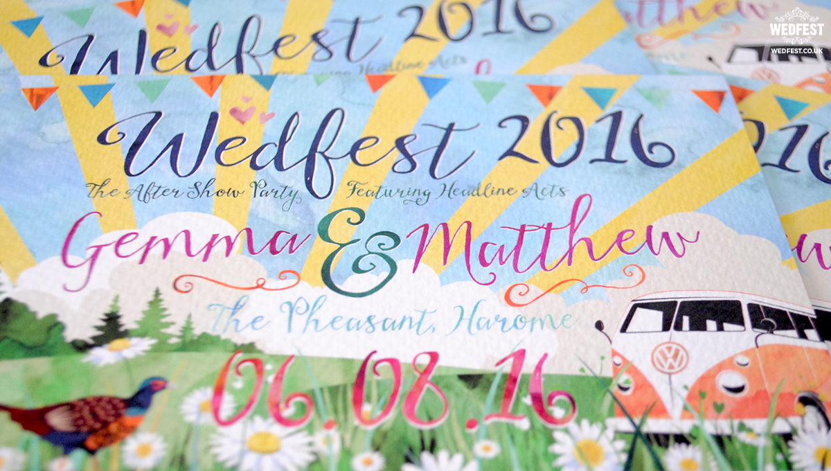 watercolor wedding invitation wedfest