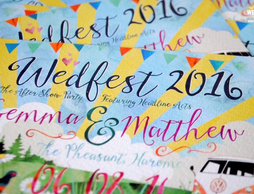 Watercolour Festival Wedding Invitations
