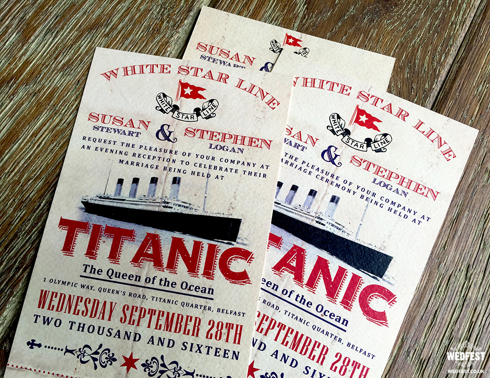 titanic wedding invitation