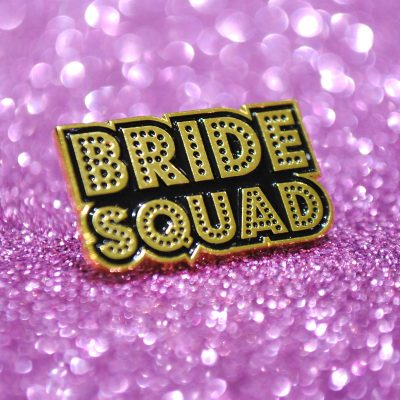 bride squad hen party pins badges
