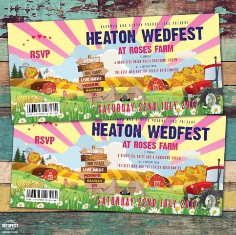 farm themed wedding invitations
