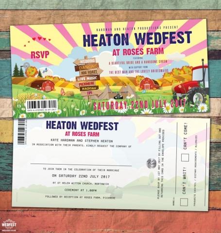 festival farm wedding invites