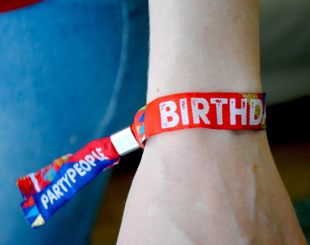 birthdayfest birthday party festival wristbands