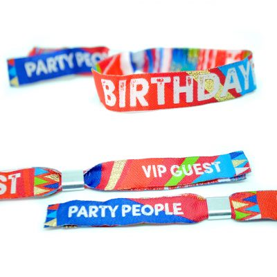 birthdayfest birthday party wristbands