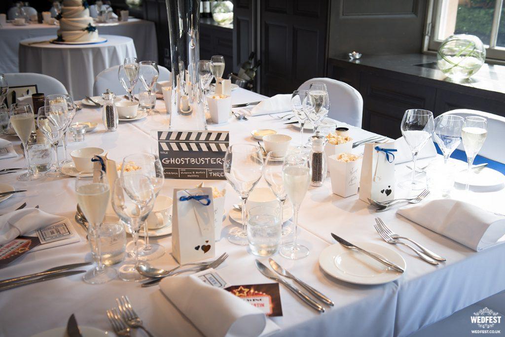 movie cinema themed wedding table decoration