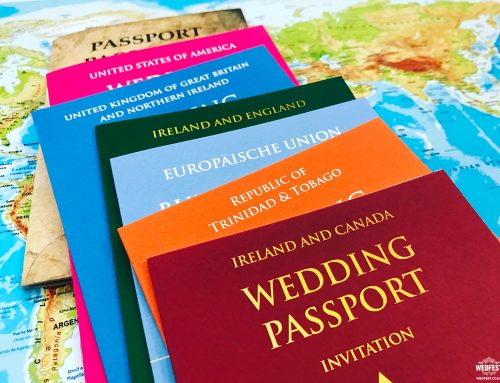 Destination Wedding Passport Invitations