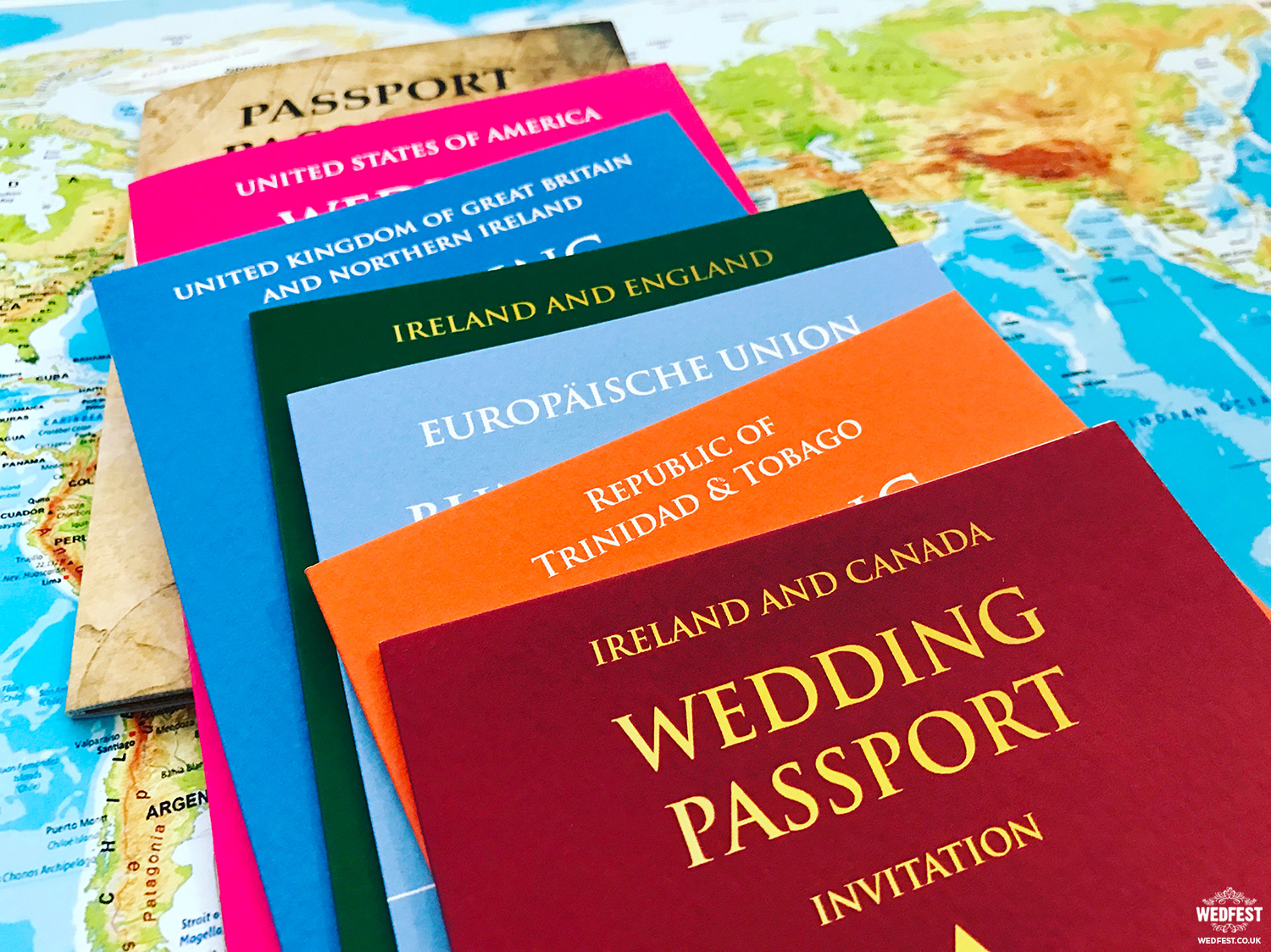 Destination Wedding Passport Invitations | WEDFEST