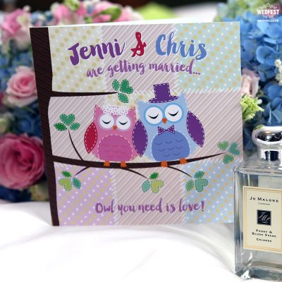 owl theme wedding invitations