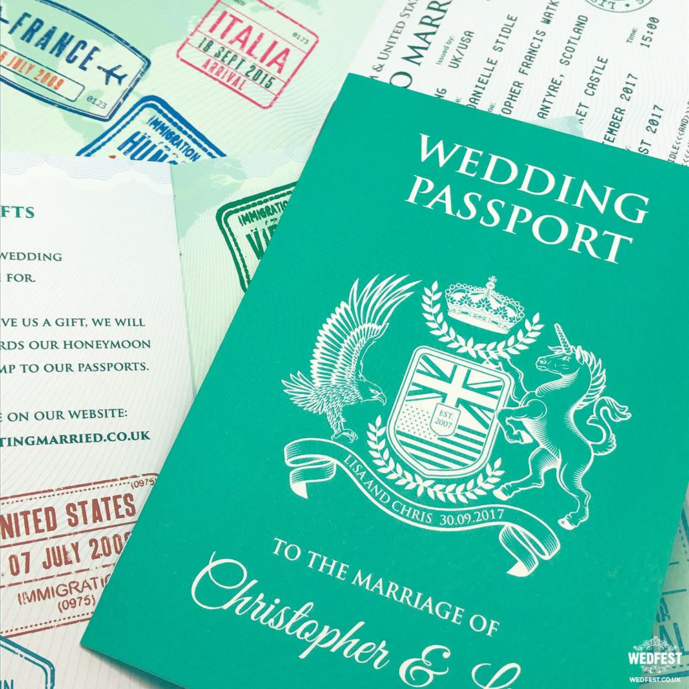 passport to love wedding invitation