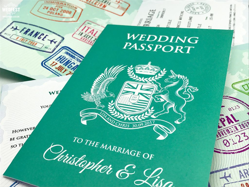 wedding passport booklet