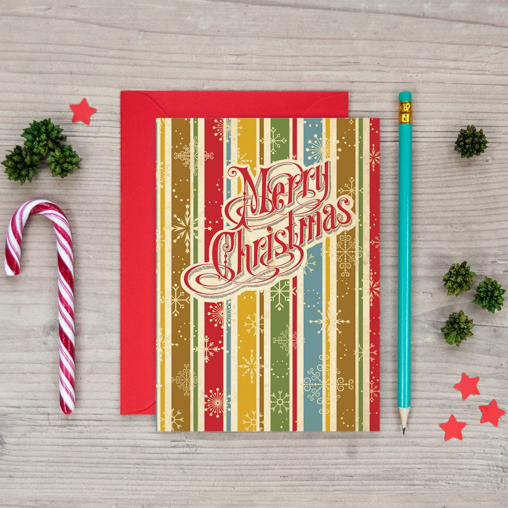 classic retro style christmas cards