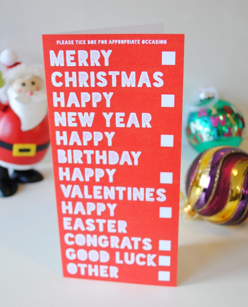funny christmas card all occasions greeting card