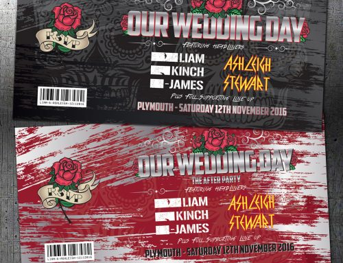 Heavy Metal Festival / Rock and Roll Concert Wedding Invitations