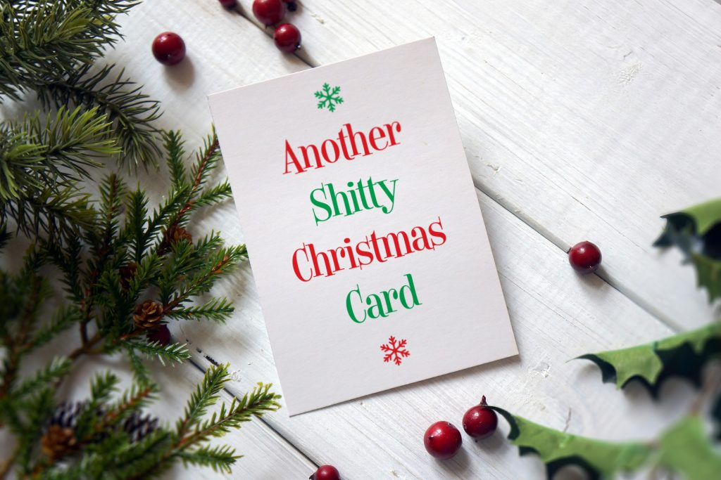 shitty christmas card funny rude offensive xmas cards