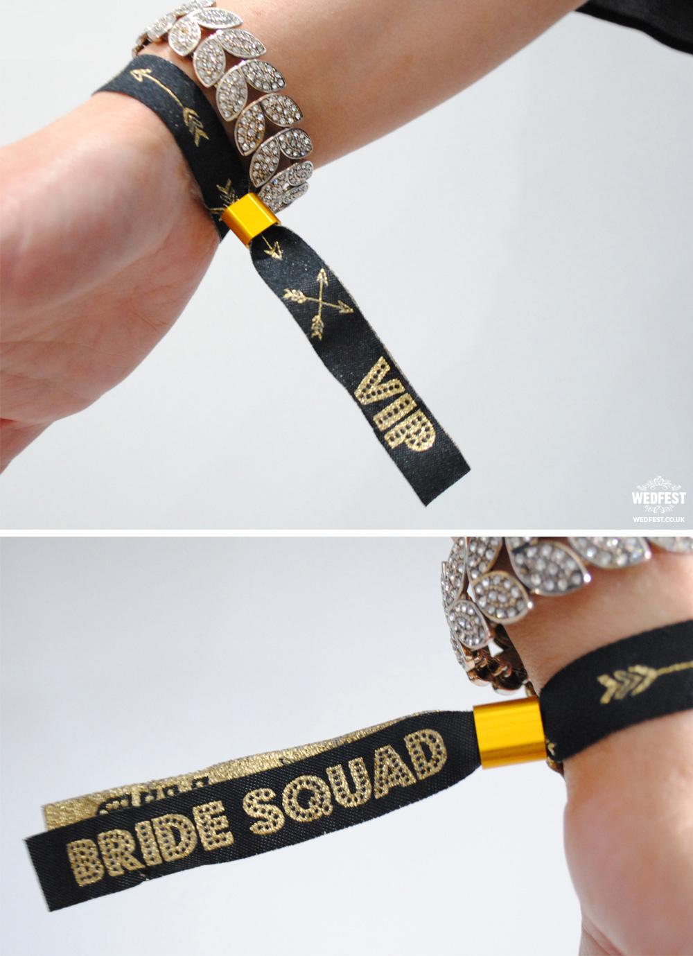 bride squad tribe wristbands