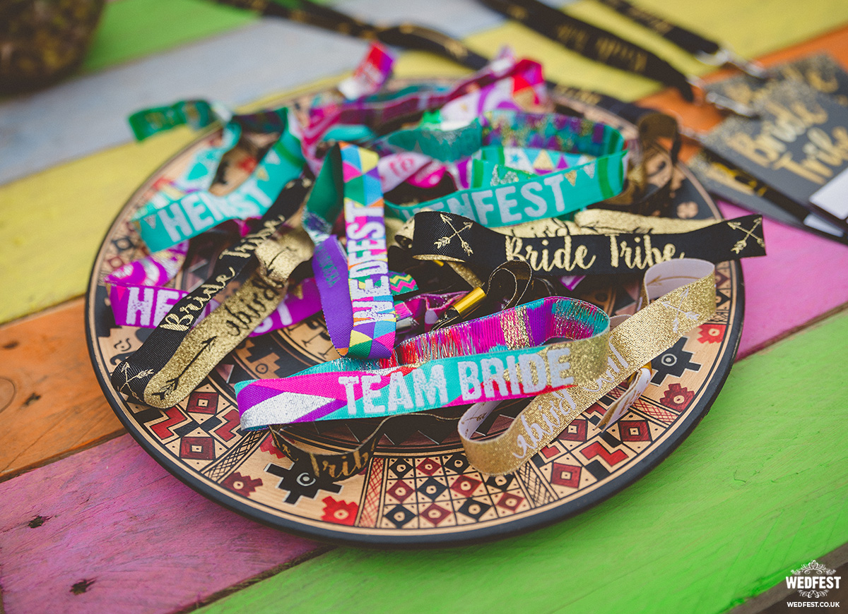 hen party wristbands wedfest