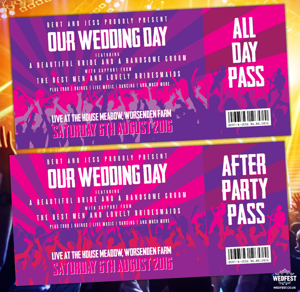 live music concert wedding invites wedfest