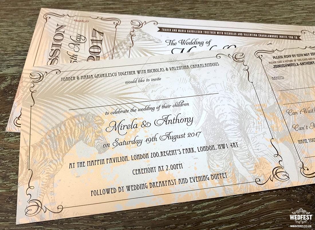 animal themed wedding invitations