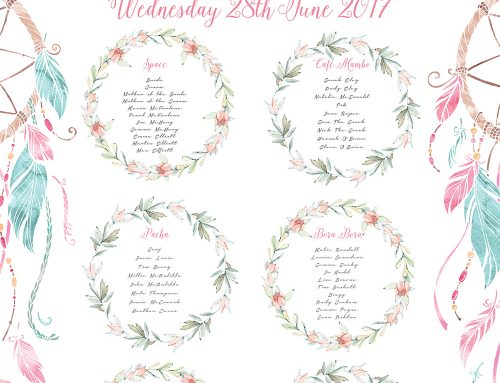 Ibiza Wedding Stationery – Table & Seating Plans