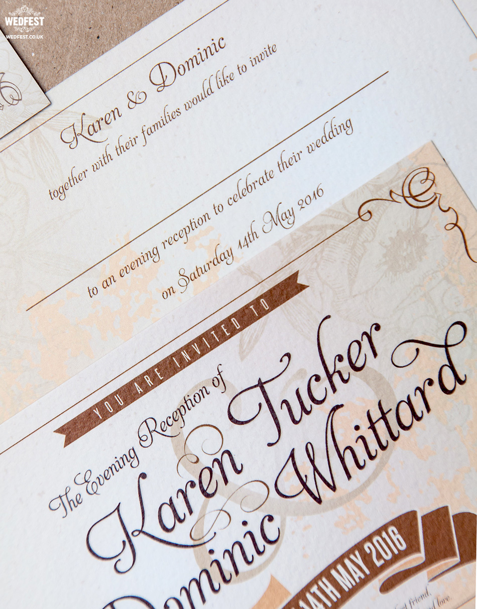rustic chic festival wedding invitations